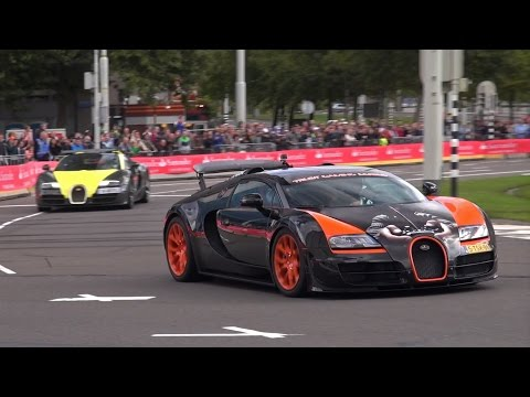 Edition - During the annual Rotterdam City Racing I've filmed not 1, not 2 but 4 Bugatti Veyrons! It's pretty rare to film 4 Veyrons at the same place, especially in The Netherlands. In this video you...