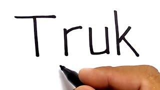 WOW, menggambar mobil TRUK dengan kata truk