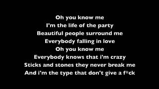 Rihanna Half Of Me Lyric Video
