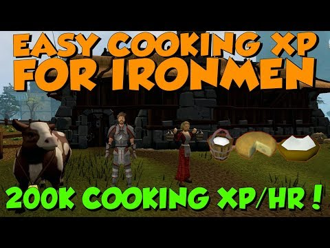 Easy Ironman Cooking Guide! 200k XP/HR! [Runescape 3] Cream Cheese, No Supplies Needed!