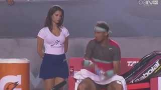 Gorąca dziewczyna kontra Rafael Nadal. To się dopiero nazywa samokontrola