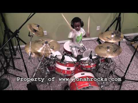 6 Year Old Drummer Jonah - Aerials 