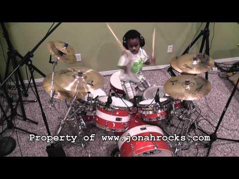 6 Year Old Drummer Jonah - Aerials