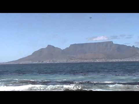 View of Table Mountain from Robben Island, South Africa