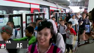 Uji Coba Gratis LRT Dipenuhi Warga Jakarta