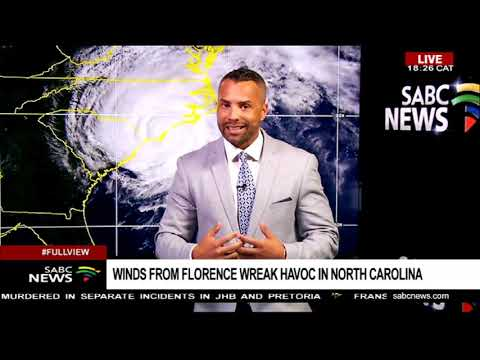 Winds from Hurricane Florence wreak in North Carolina: Sherwin Bryce-Pease
