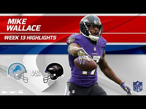 Video: Mike Wallace's 116 Yards & 5 Catches vs. Detroit! | Lions vs. Ravens | Wk 13 Player Highlights