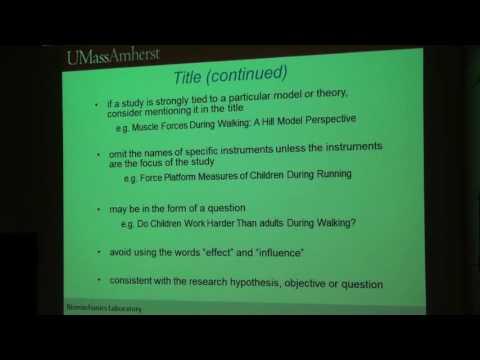 Key points when writing a manuscript