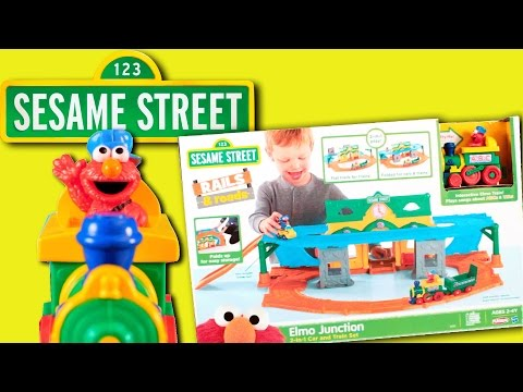 Sesame Street   Elmo Junction Car & Train Toy REVIEW 2017