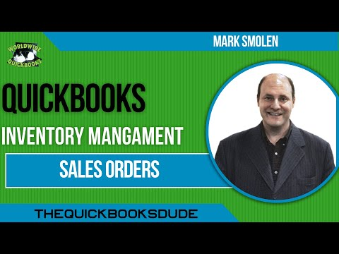 Learn QuickBooks Video 10 - Sales Orders