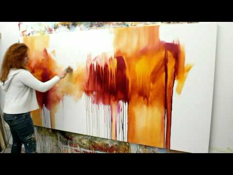 "Abstract acrylic painting Demo – Abstrakte Malerei ""Flüsterzeit"" by Zacher-Finet"