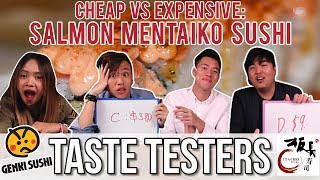 Cheap VS Expensive Mentaiko Sushi  | Taste Testers | EP 48