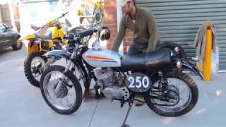 5. Suzuki TS 250 1974 Flat Tracker- (second tuned video)  for sale on ebay May 2018