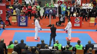Linz Austria  city photos gallery : Rafael Aghayev vs. Asiabari Aliasghar. Semifinal. World Karate Championship 2016, Linz, Austria HD