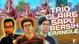 Video TRIO CLAIRE SAPU BERSIH ERANGLE !!! - PUBG MOBILE INDONESIA MP3, 3GP, MP4, WEBM, AVI, FLV Maret 2019