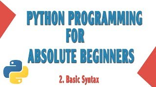 """This is the second video to Learn Python programming for absolute beginners.In this video you will learn basic syntax of python.""""Hello World""""If you have any problems, let me know in the comment section below.GitHub: https://github.com/onthirTwitter: @techinov22Thanks for watching. Please Subscribe for more."""