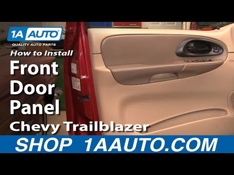 How To Install Replace Remove Front Door Panel Chevy Trailblazer 02-09 1AAuto.com