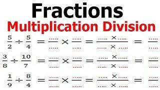 Maths 6ème - Fractions multiplication et division Exercice 6