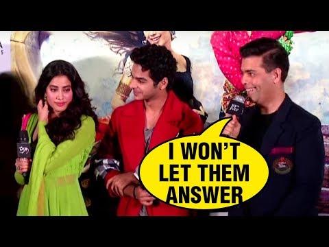 Janhvi Kapoor Ishaan Khattar Questioned On Love Li