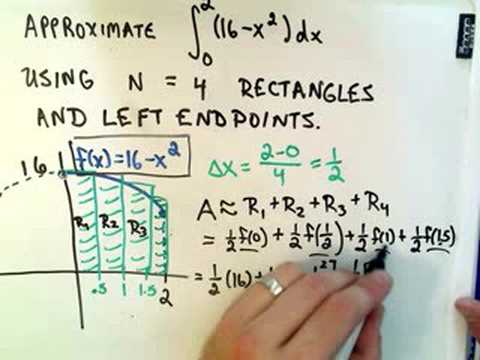 patrickJMT - For more FREE math videos, visit http://PatrickJMT.com !! Approximating a Definite Integral Using Rectangles - Here I use 4 rectangles and left endpoints as ...