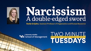 YouTube video highlighting School of Management faculty research on narcissism in the workplace.