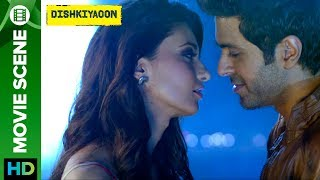 Click here to watch the full movie - http://bit.ly/DishkiyaoonFullMovieHarman Baweja's love at fist side with Ayesha Khanna but she refused him because he introduced himself as project manager in TATA company. and at the end he admitted that he's a gangster.Check out scene from the movie 'Dishkiyaoon' a film directed by Sanamjit Singh Talwar featuring Harman Baweja, Sunny Deol & Ayesha Khanna. The film is produced by Sunil Lulla & Shilpa Shetty Kundra. Music is composed by Sneha Khanwalkar, Palash Muchhal, Prashant Narayanan and White Noise Production.For Mobile Downloads Click: http://m.erosnow.comTo watch more log on to http://www.erosnow.comFor all the updates on our movies and more:https://twitter.com/#!/ErosNowhttps://www.facebook.com/ErosNowhttps://www.facebook.com/erosmusicindiahttps://plus.google.com/+erosentertainmenthttp://www.dailymotion.com/ErosNowhttps://vine.co/ErosNow http://blog.erosnow.com