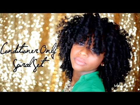 Natural Hair: Conditioner Only Spiral Set