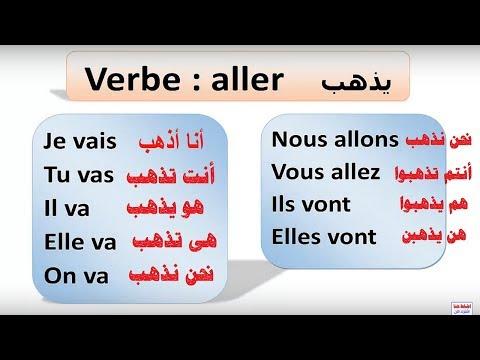 فعل يذهب بالفرنسية تصريفة وتعبيراتة  Aller