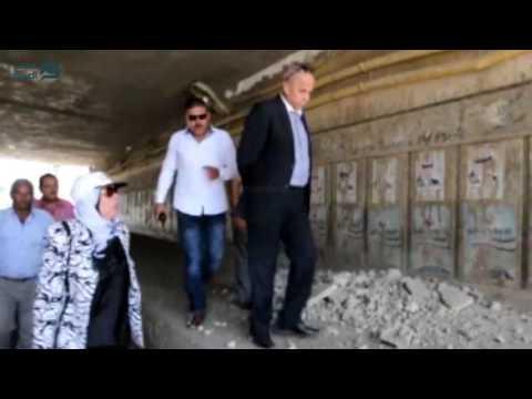 مصر العربية |  محافظ القليوبية يتفقد موقع هبوط كوبرى الشموت ببنها