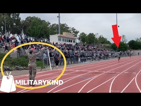 Hugging Air Force mom is real prize at track meet   Militarykind