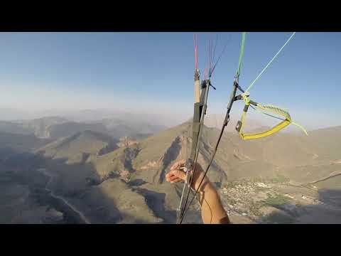 Paragliding From Eastern Mountan 2017-Oman (видео)