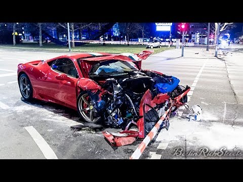 Video released of the first crashed new Ferrari 458