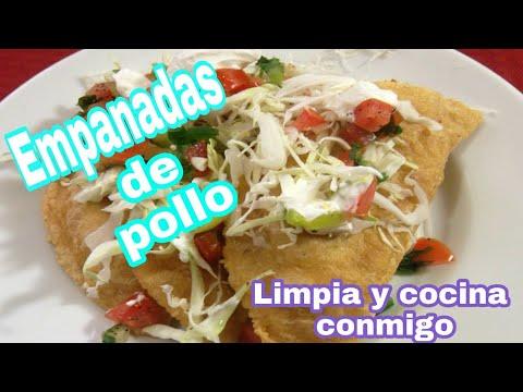 Videos de uñas - LIMPIANDO Y COCINANDO CONMIGO-unas empanadas de pollo ricas y faciles de preparar