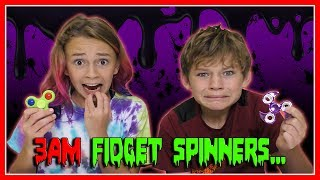 """Kayla and Tyler wake up early to test out what happens if you play with fidget spinners at 3AM. See what happens right after the clock turns to 3AM! Subscribe https://www.youtube.com/c/wearethedavises?sub_confirmation=1Our mailing address:We Are The Davises28241 Crown Valley Pkwy Suite F #613Laguna Niguel , CA 92677""""We Are The Davises"""" is an entertaining family vlog channel based in Florida. Our daily videos show our real life moments, challenges, funny skits, and traveling adventures. Shawn is an outstanding father and husband that enjoys coaching children in team sports like football and wrestling. Connie is very creative with our channel as she makes everything in our lives as fun and entertaining as possible while still molding our kids into the amazing people they are today. Kayla is currently 12 years old. Her passion is competitive cheer leading and loves all animals from fluffy puppies to the little frogs. Tyler is 11 years old and is obsessed with playing video games and team sports such as football. We are excited to share our fun filled journey!Check out our gaming channel We Are The Davises Gaming if you love gaming videos.https://www.youtube.com/channel/UCShsPtvK0WzxjljpN4rhVzgPlease be sure to check out all of our social media platforms that we have listed below for you.Twitter:  https://twitter.com/wearethedavisesFacebook:  https://www.facebook.com/wearethedavises/Instagram: https://www.instagram.com/wearethedavises/Google+: https://plus.google.com/u/0/+WeAreTheDavises2016/postsSnapchat:  https://www.snapchat.com/add/wearethedavisesMusical.ly:  wearethedavisesDo you like certain types of videos? Come and check out the playlists that we have setup to make it easier for you to watch what you like.Here is a playlist of all our daily videos. https://www.youtube.com/playlist?list=PL1SgveIsSpIqtjNq-QnGHSHxv410nkJfyThis playlist was put together specifically for all you Kayla fans.https://www.youtube.com/playlist?list=PL1SgveIsSpIq9mItnfiQyqIO7g1-v28PMThis i"""