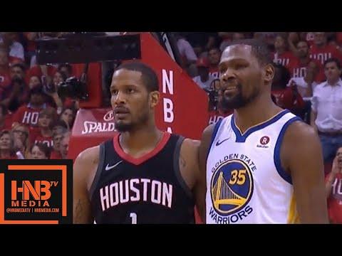 Golden State Warriors vs Houston Rockets 1st Half Highlights / Game 1 / 2018 NBA Playoffs