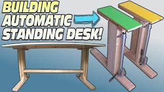 How To BUILD a Standing Desk | Building Convertible Electric Workstation For Easy DIY Stand Up Desks