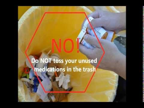 how to properly dispose of medicines fda
