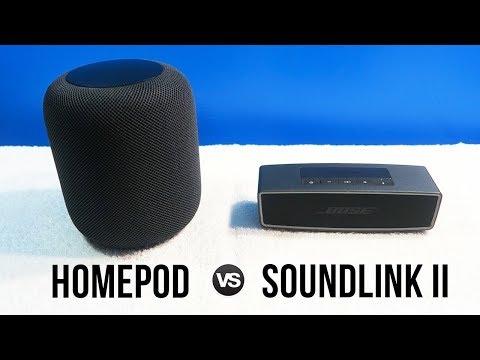 Apple HomePod vs Bose Soundlink Mini II • Sound Comparison!