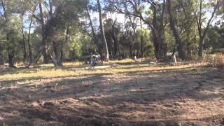 8. Husqvarna TC85 and Honda CRF230 at the farm