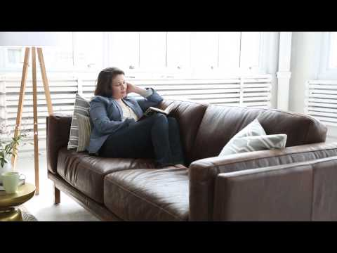 Choose a Dark Leather Sofa With a Soft Side | west elm