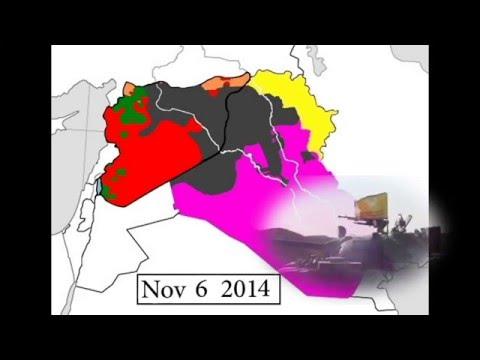 Развитие конфликта в Сирии и Ираке наглядно