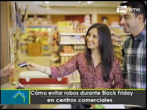 Cómo evitar robos durante Black Friday en centros comerciales