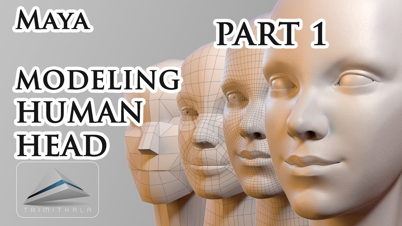 explaining topology 3d head modeling maya tutorial
