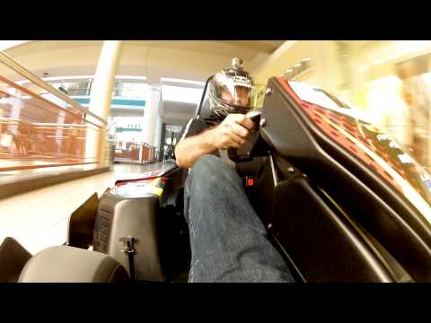 gokart - Two high-performance electric go karts from Pole Position Raceway speed through the Destiny USA mall in Syracuse, New York during open hours. Watch mall foun...