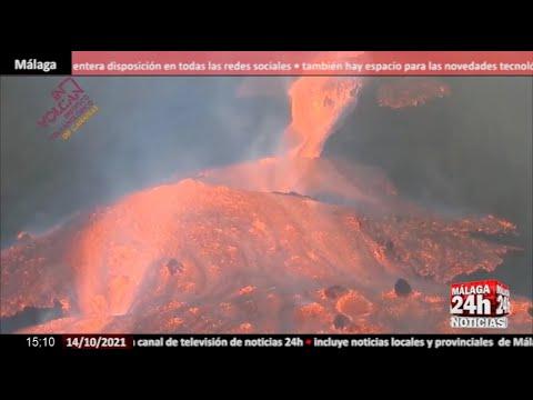 🔴Noticia - La lava se desborda en el cono principal del volcán de La Palma