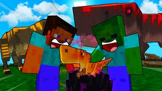 Steve KIDNAPPED Baby DINOSAUR Egg - MINECRAFT STEVE AND BABY ZOMBIE [101]