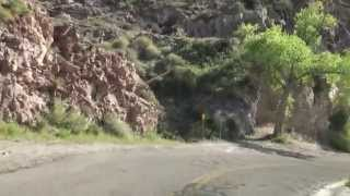 Heading to Oatman on Historic ROUTE 66, AZ - Downhill over SITGREAVES PASS