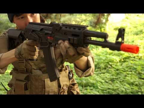 베릴m762같이 커스텀한 ak74!  aps AK74M 전동건 리뷰