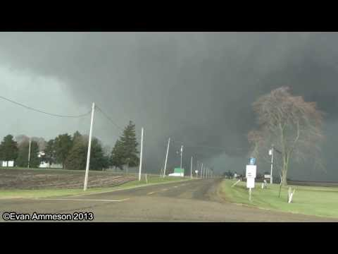 Large Tornado From Very Close Near Benson IL HD