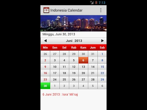 Video of Indonesia Calendar